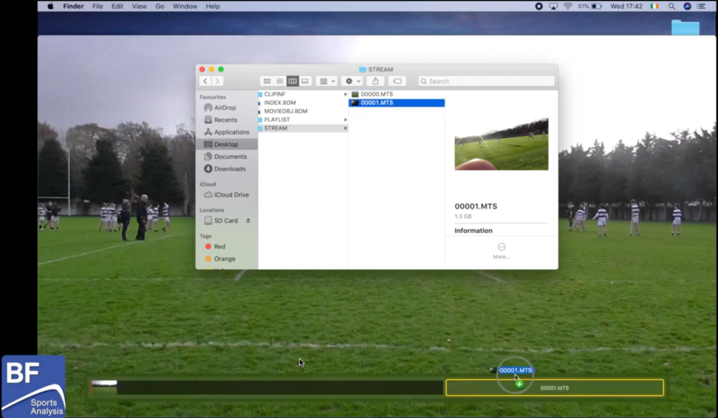 Drag and drop video on top of first video. Exporting AVCHD video files on a Mac.