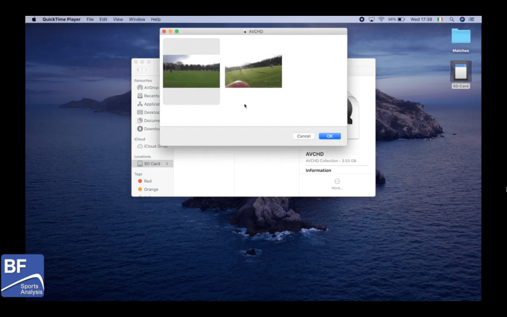 How to Combine Multiple Videos inside an AVCHD file on a Mac using QuickTime