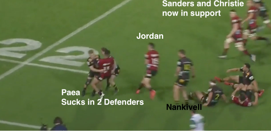 Will Jordan Support Line Rugby Analysis