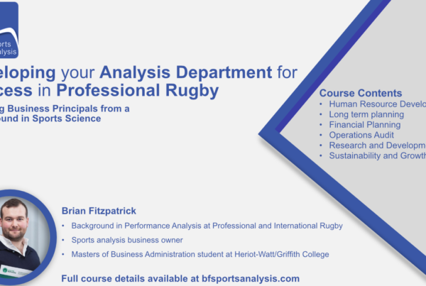 Sports Analysis Course Pro Rugby